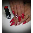 407 UV Nail Polish MAGA Red Beads