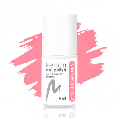Bubble Pink Tea keratin gel polish nr 1Z MAGA