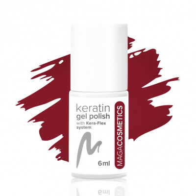 Red and Love keratin gel polish nr 5Z MAGA