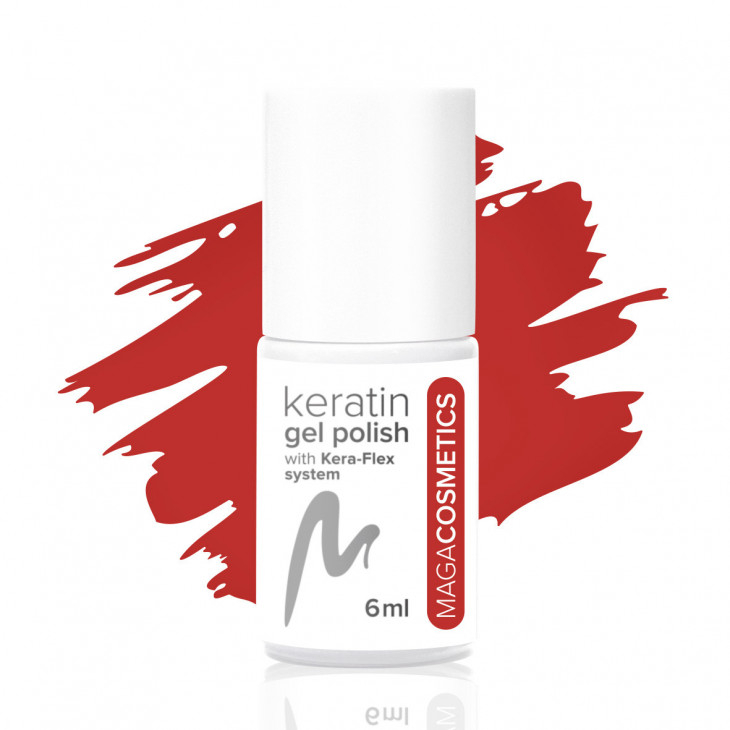 Opposite Red keratin gel polish nr 18Z MAGA