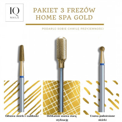Pakiet 3 frezów Home SPA Gold