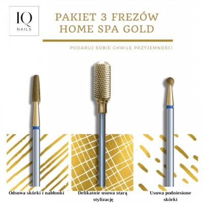 Set of 3 nail drill bits Home SPA Gold